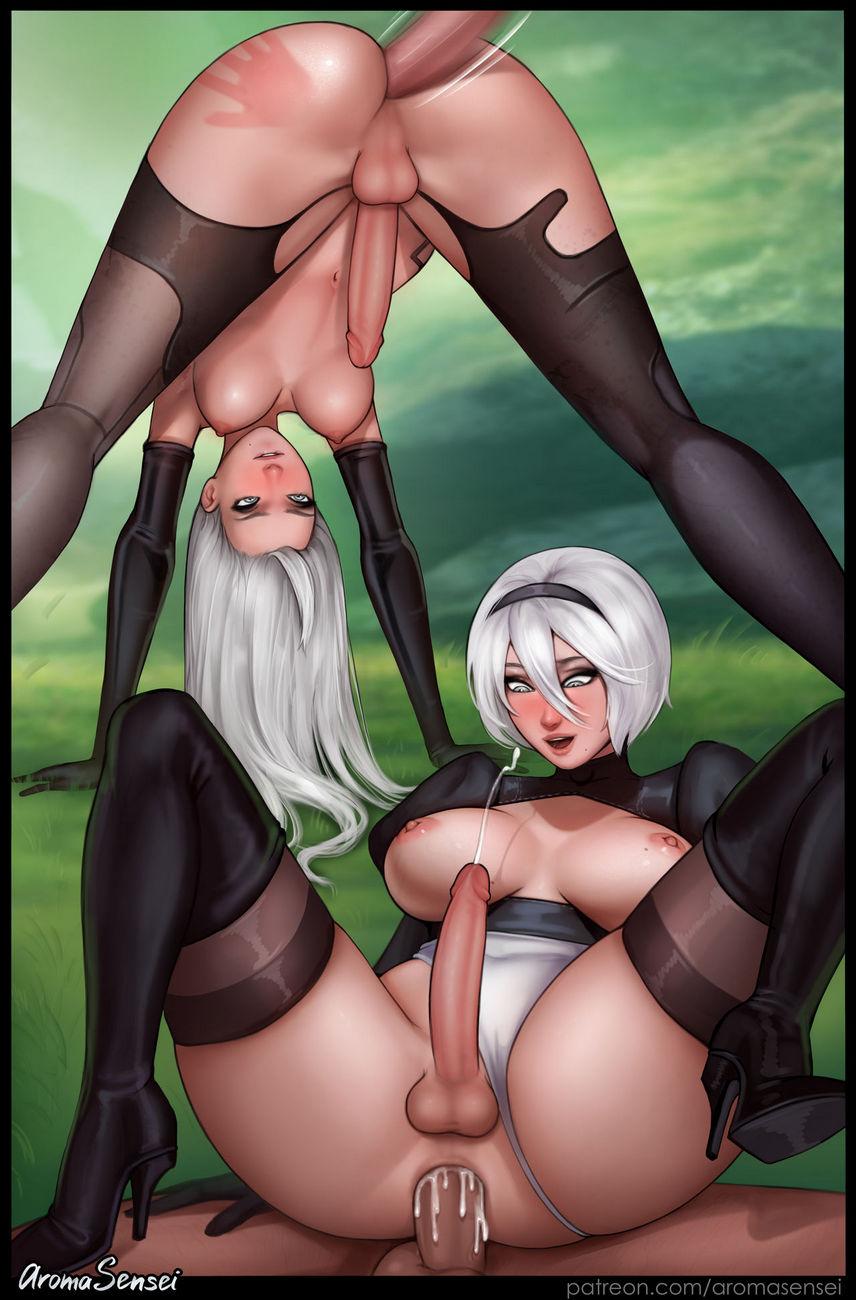 lesbian hentai futanari